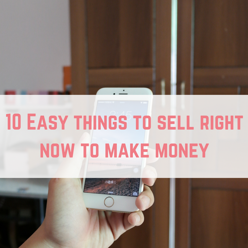 sell right now to make money