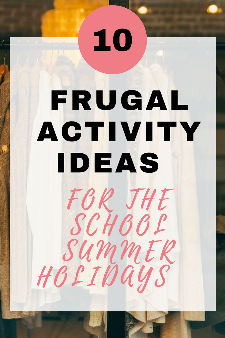 Here are 10 frugal activity ideas for the school summer holidays that will keep you all amused and won't break the bank by Emma at EmmaDrew.info #ActivityIdeas #Kids #CraftIdeas