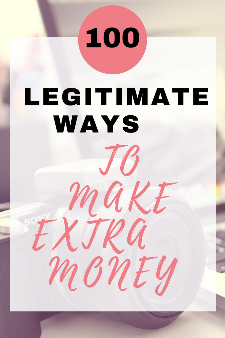 Here are 100 legitimate ways to make extra money fast and online by Emma at EmmaDrew.info. #MakeMoneyFast #MakeMoneyOnline #MakeMoneyAtHome #MakeMoneyFromHomeUK