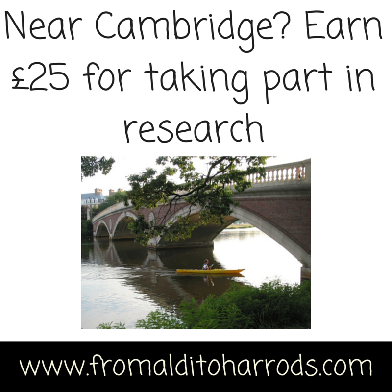 Near Cambridge- Earn £25 for taking part in research
