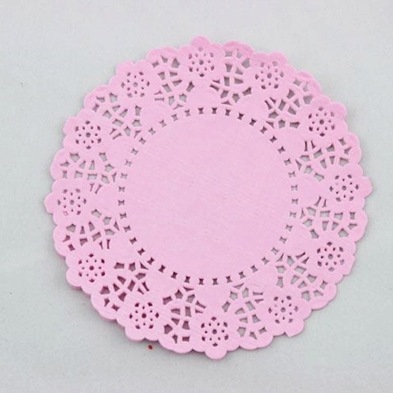pink doilies