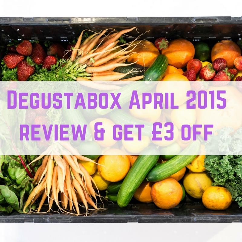 Degustabox April 2015 review & get £3 off