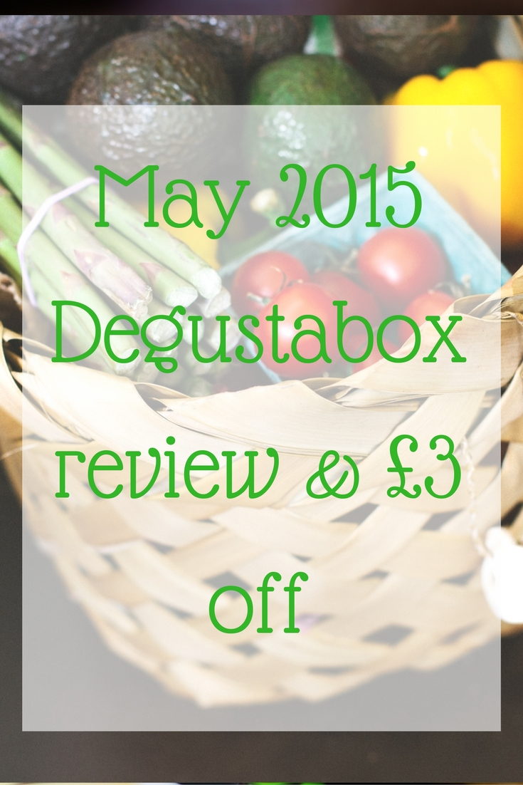 May 2015 Degustabox review & £3 off