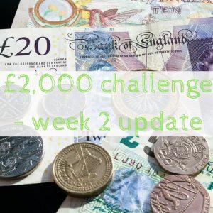 £2,000 challenge – week 2 update