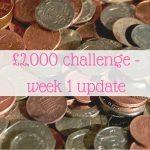 £2,000 challenge – week 1 update