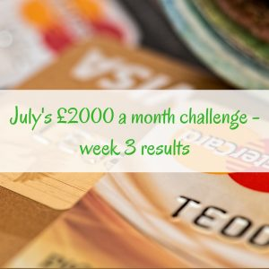 £2,000 challenge – week 3 results
