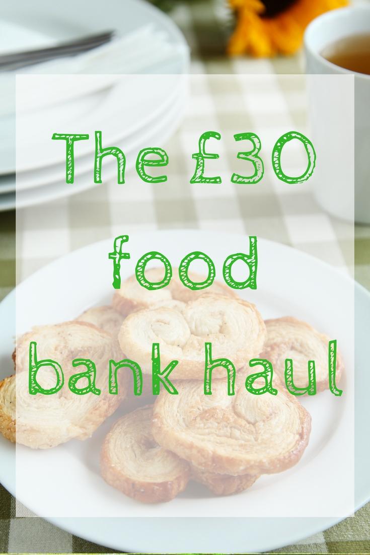 £30 food bank haul