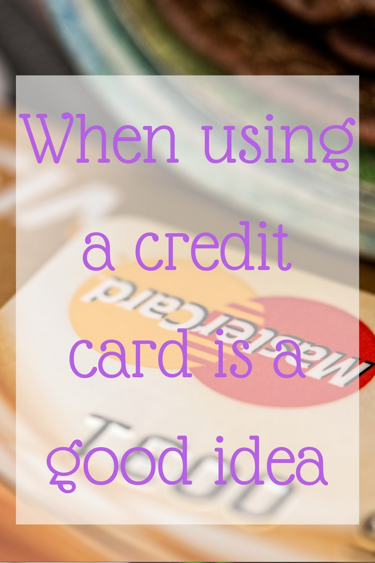 when to use a credit card