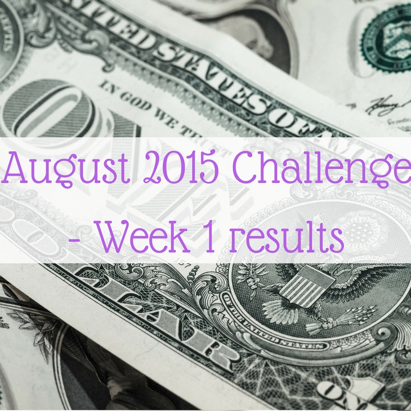 August 2015 Challenge - Week 1 results