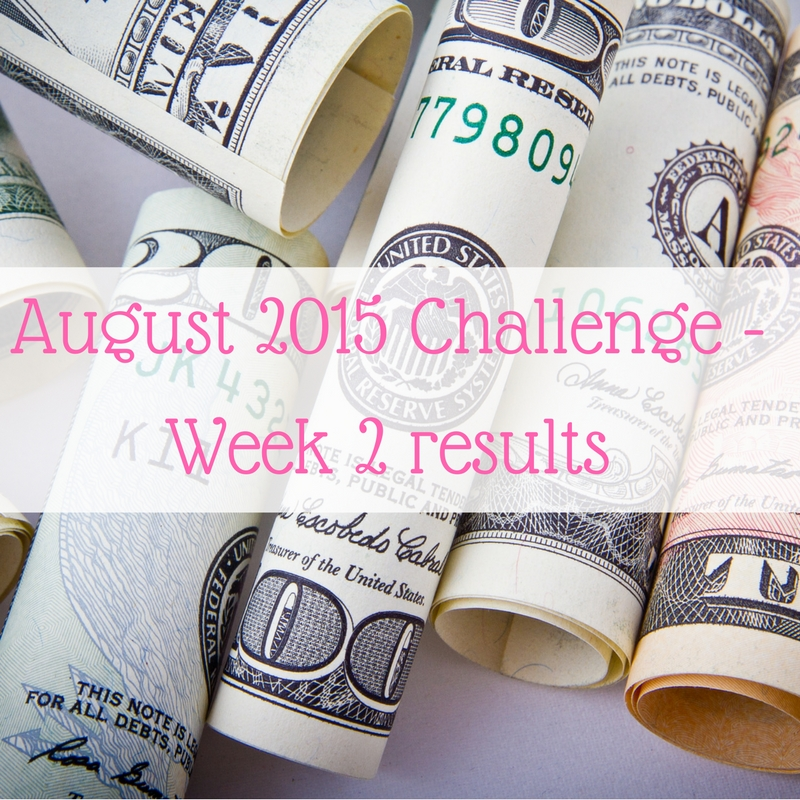 August 2015 Challenge - Week 2 results