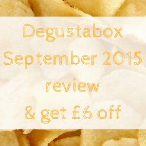Degustabox Sept 2015 review & get £6 off