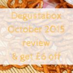 Degustabox October 2015 review & get £6 off
