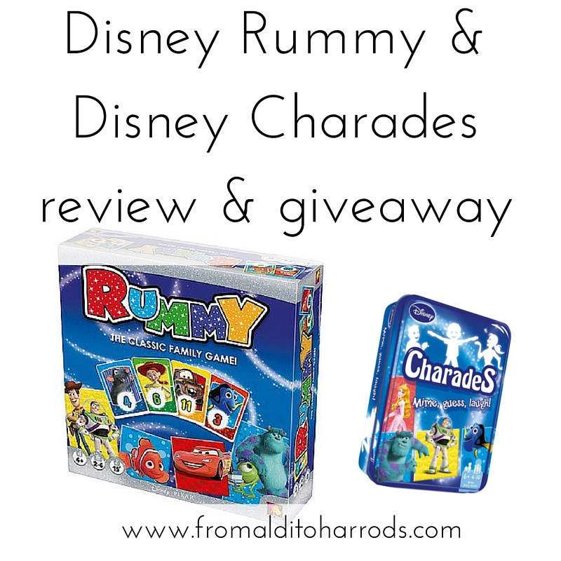 Disney Rummy & Disney Charades review & giveaway