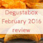 Degustabox February 2016 review