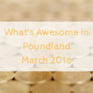 What's Awesome in Poundland March 2016
