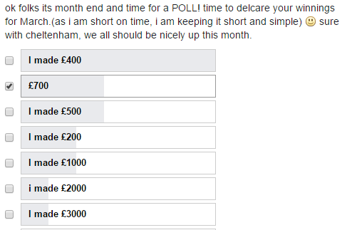 March matched betting group earnings