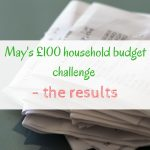 May's £100 household budget challenge – the results