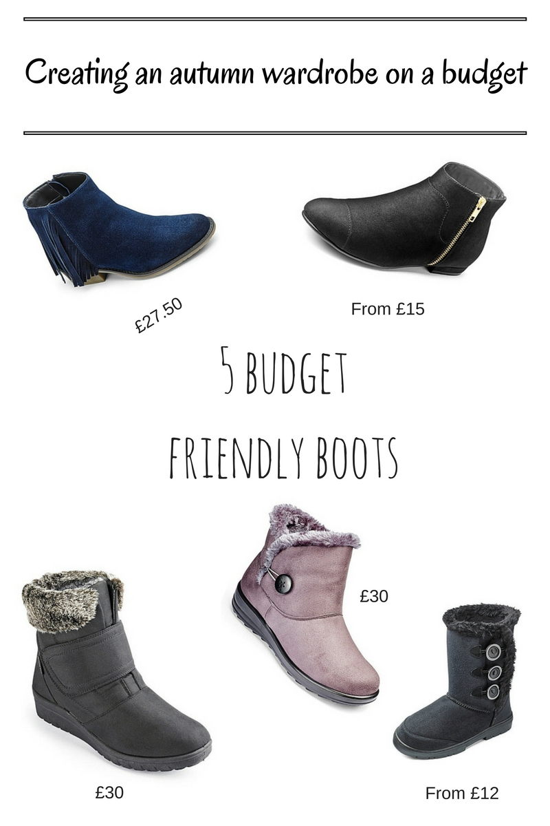 Creating an autumn wardrobe on a budget - footwear