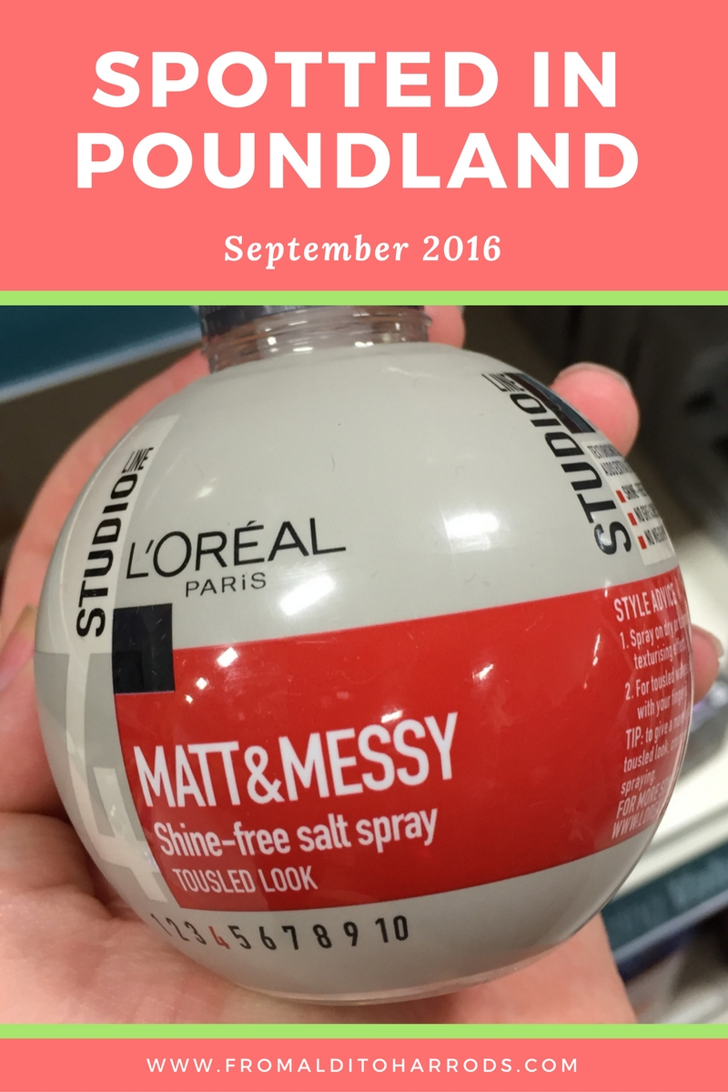 Spotted in Poundland in September 2016 16