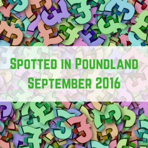 What's awesome in Poundland in September 2016