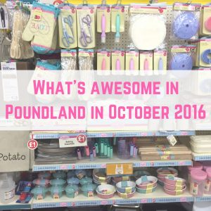 What's awesome in Poundland in October 2016