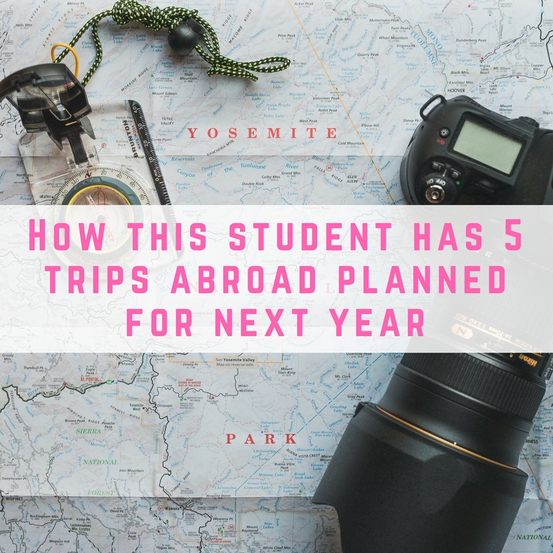 How this student has 5 trips abroad planned for next year