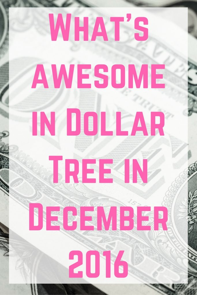 What's awesome in Dollar Tree in December 2016