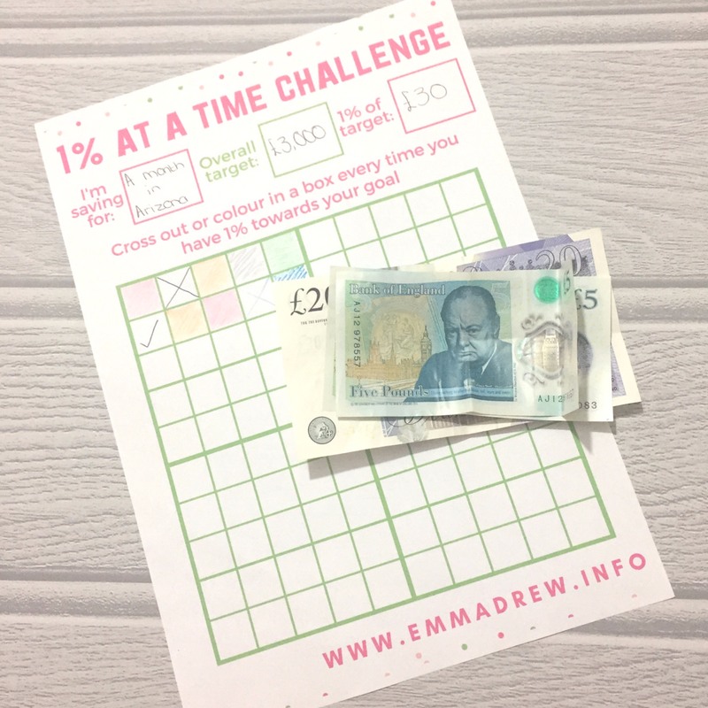 the 1% at a time challenge & Printable