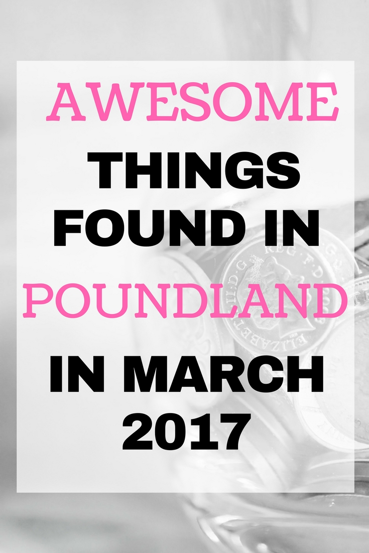 Awesome things found in Poundland in March 2017