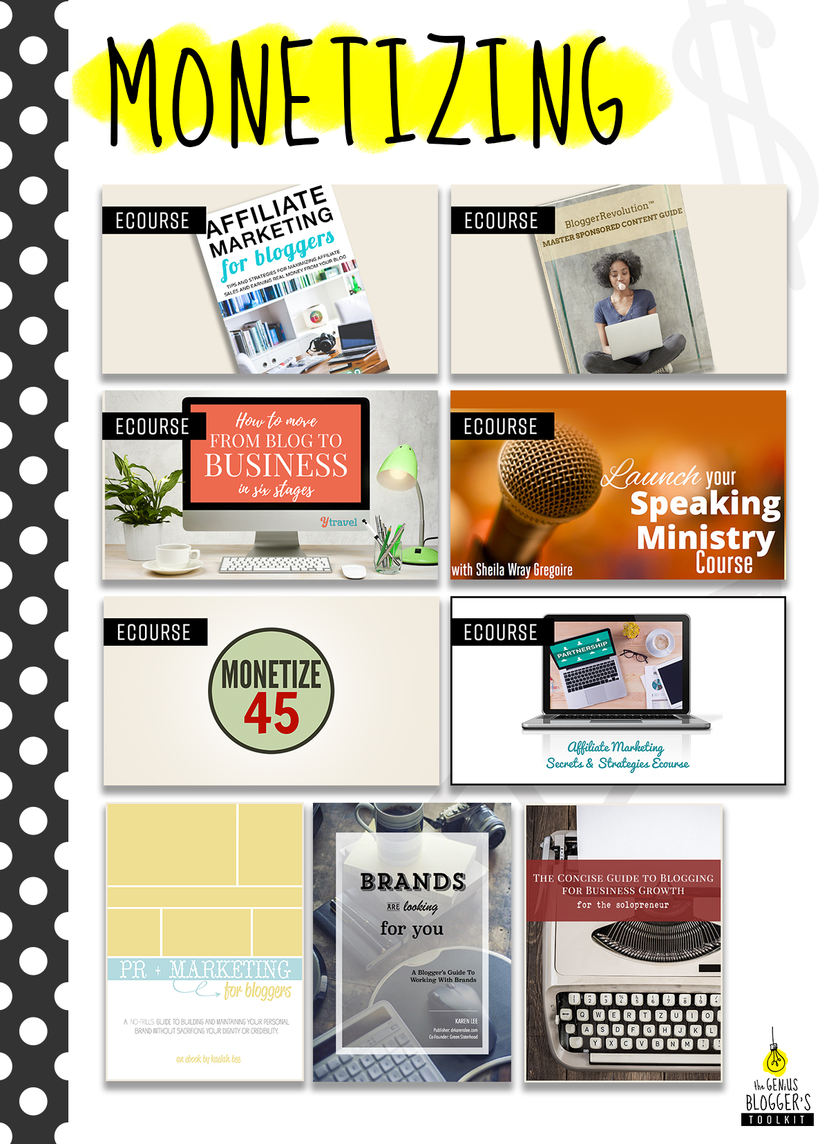 Monetizing your blog with the Genius Blogger's Toolkit