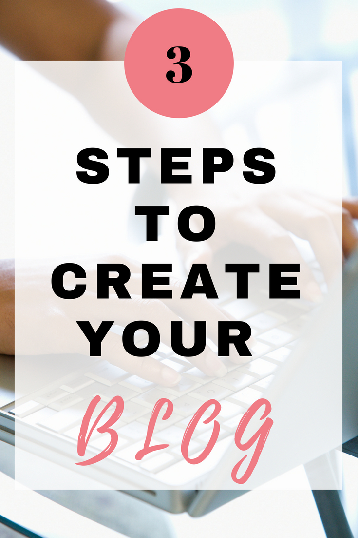 Start your blog in 3 simple steps