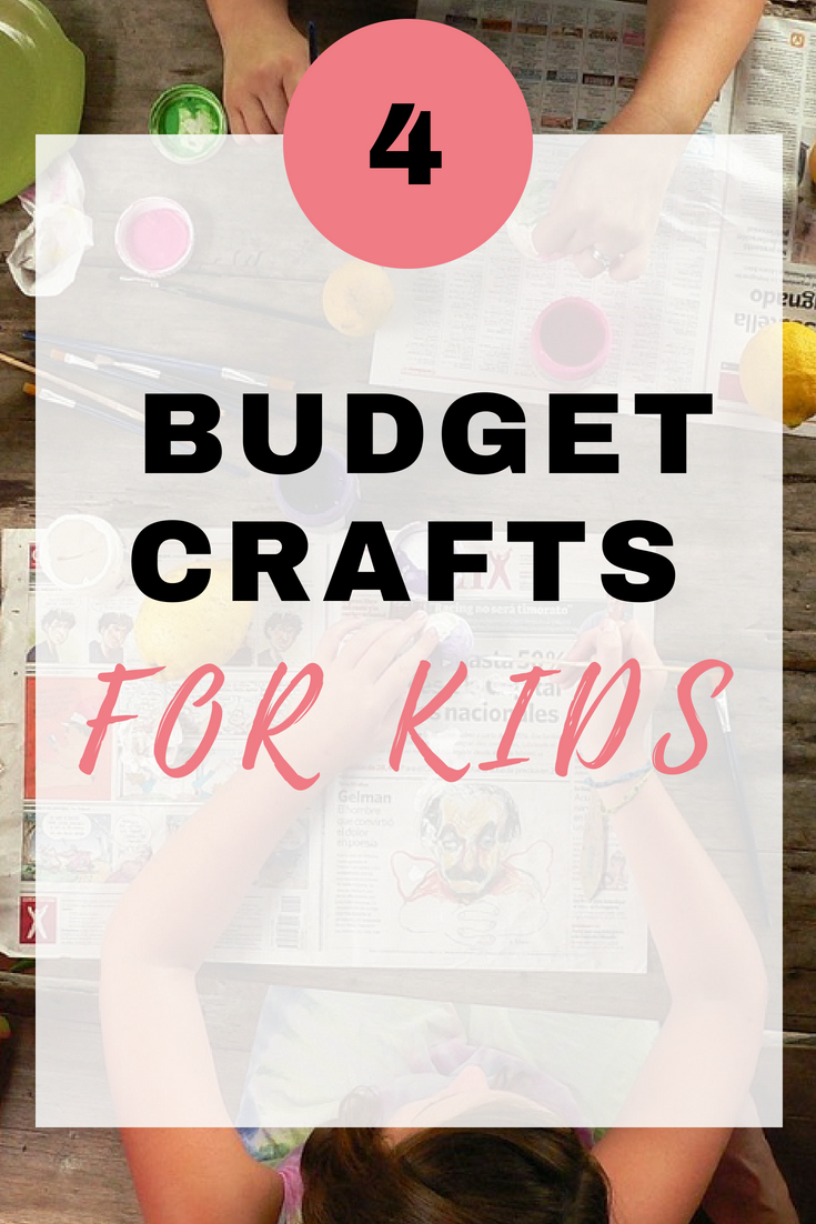 Here are 4 budget crafts for kids that will keep them amused over the summer holidays for free by Emma at EmmaDrew.info. #Kidscrafts #crafts #craftsforkids