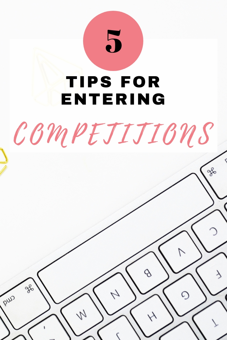 entering competitions