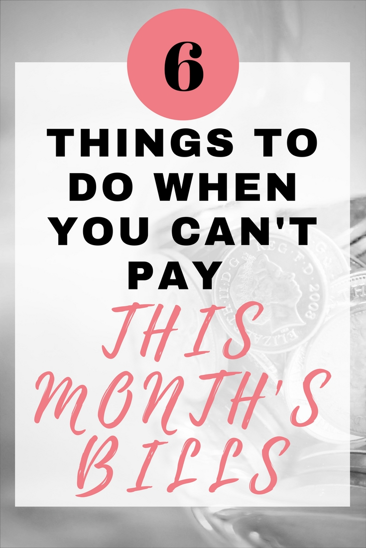 6 things to do when you can't pay this month's bills