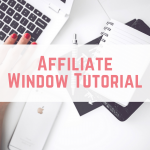 Affiliate Window Tutorial