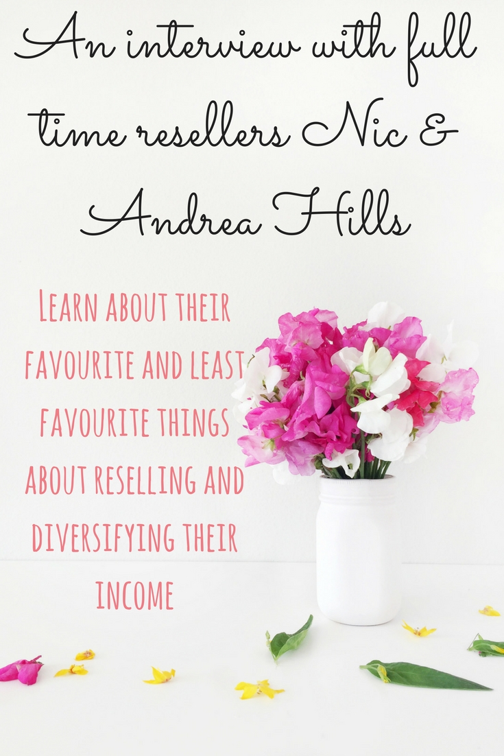 An interview with full time resellers Nic & Andrea Hills. Learn about their favourite and least favourite things about reselling and diversifying their income