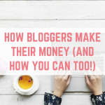 How bloggers make their money