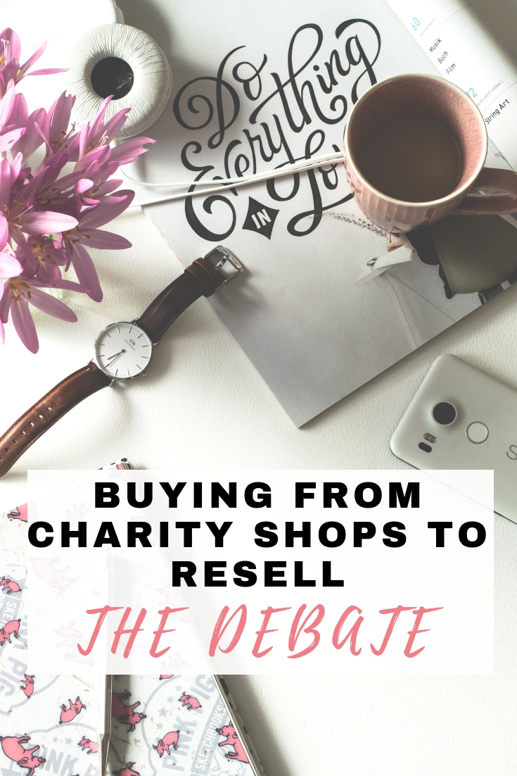 Is it okay to buy items from a charity shop to resell