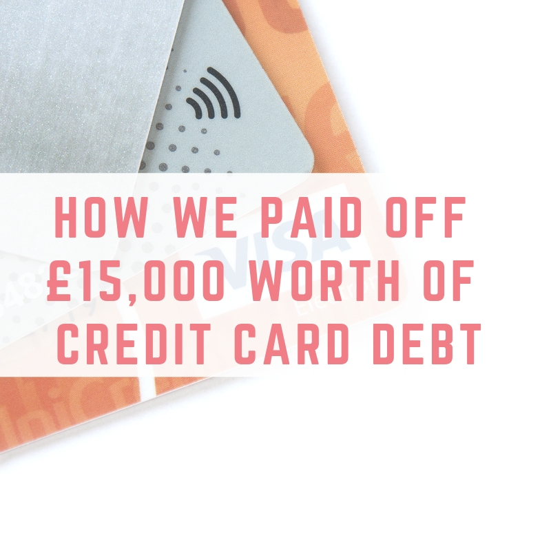 paid off £15,000 worth of credit card dept