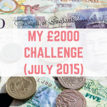 My £2,000 challenge (July 2015)