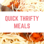 Quick, thrifty meals