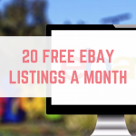 20 free eBay listings a month