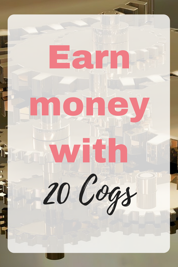 This is how to earn money with 20 Cogs by Emma at EmmaDrew.info. #20Cogs #MakeMoneyFromHome #WorkFromHome #EarnFromHome #MakingMoney