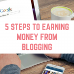 5 steps to earning money blogging