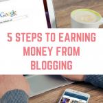 5 steps to earning money blogging
