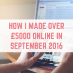 September 2016 online income report