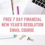 FREE 2018 Financial New Year's Resolutions Course