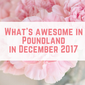 What's Awesome in Poundland in December 2017