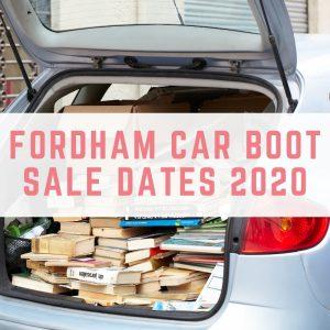 Fordham Car Boot Sale Dates 2020