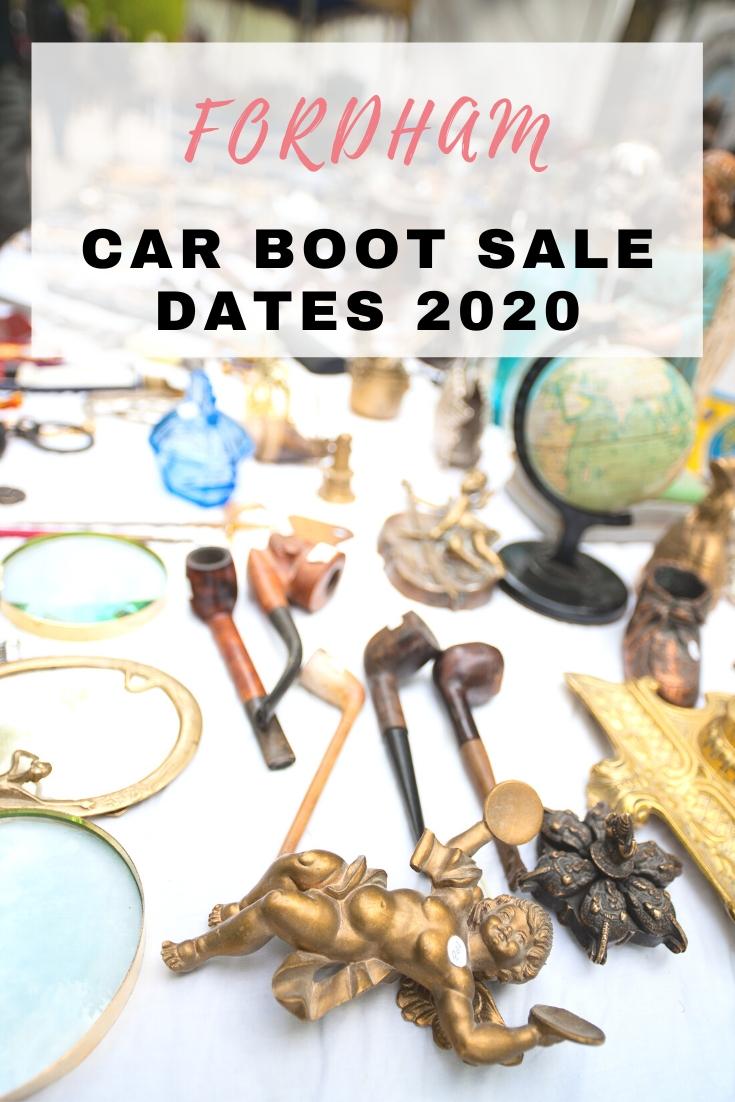Fordham Carboot sale dates 2020